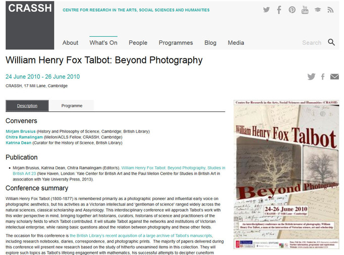 William Henry Fox Talbot: Beyond photography