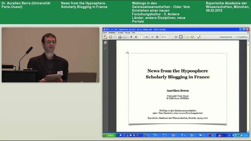News from the Hyposphere. Scholarly Blogging in France