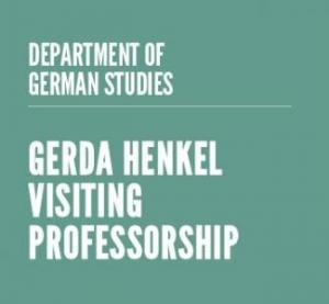 Gerda Henkel Visiting Professorship 2013-2014 am Department of German Studies der Universität Stanford