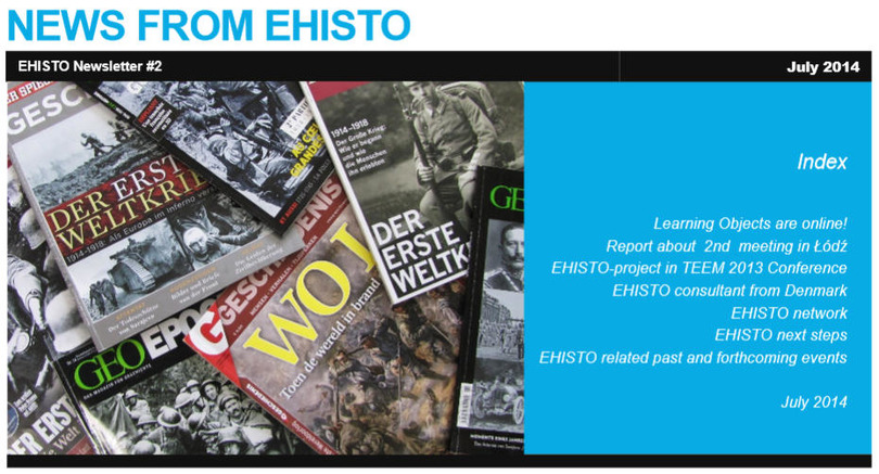 "Zweiter Newsletter des EU-Projekts ""EHISTO - European History Crossroads"" as pathways to intercultural and media education"""