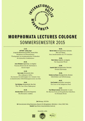 Morphomata Lectures Cologne