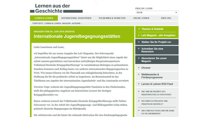 """Internationale Jugendbegegnungsstätten"""