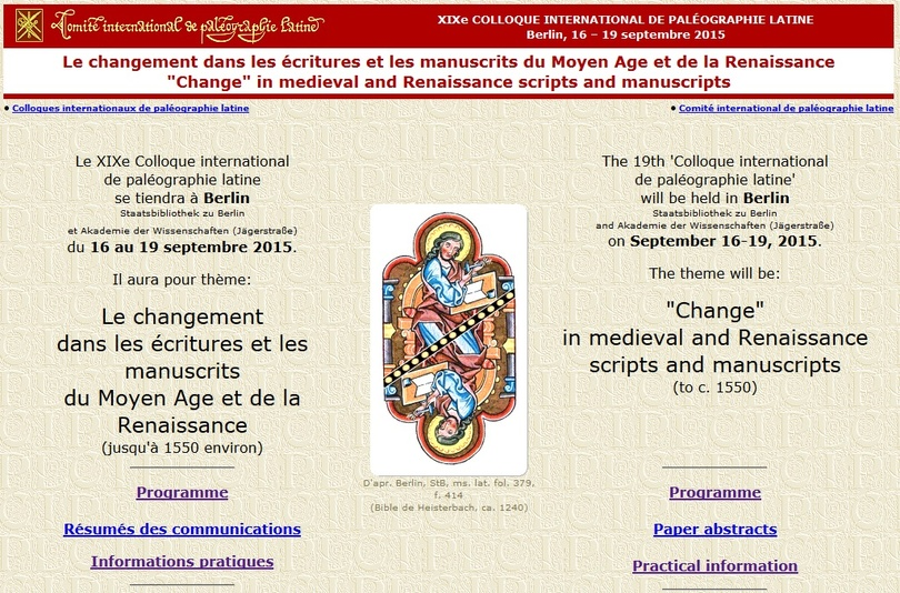 'Change' in Medieval and Renaissance scripts and manuscripts