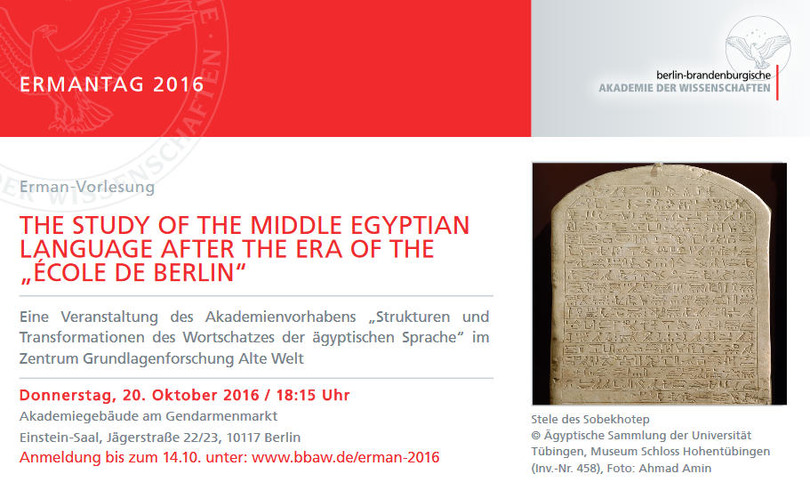 "The Study of the Middle Egyptian Language After the Era of the ""école de Berlin"""