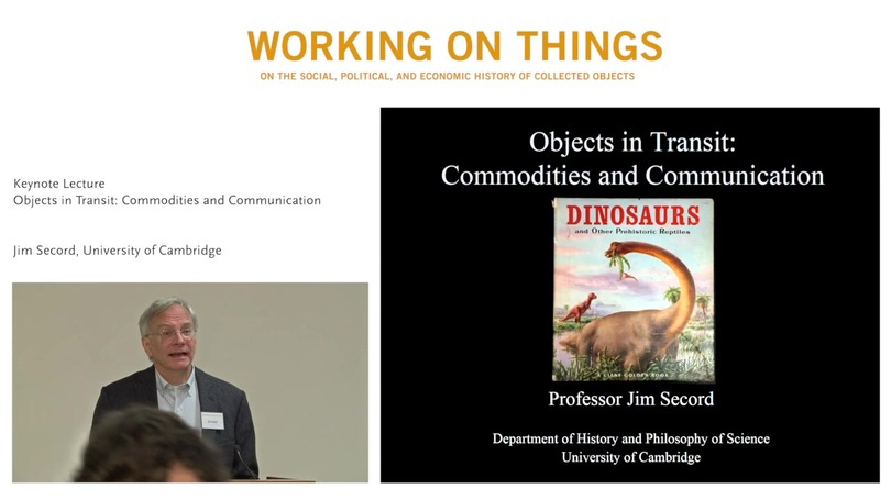 Keynote Lecture: Jim Secord on Objects in Transit: Commodities and Communications