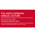 The Anglo-German Annual Lecture 2017