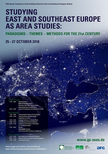 Studying East and Southeast Europe as Area Studies: Paradigms - Themes - Methods for the 21st Century