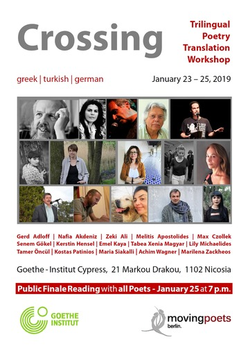 Crossing: German, Turkish and Greek Cypriot Poets | Trilingual Translation Workshop and Poetry Event in Cyprus