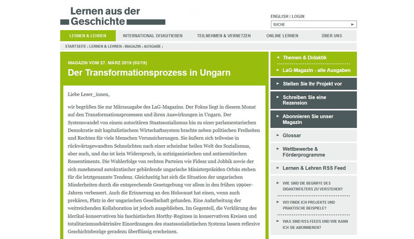 Der Transformationsprozess in Ungarn