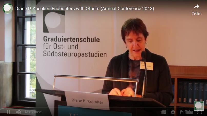 "Diane P. Koenker: ""Encounters with Others: Tourism and the Internationalization of Soviet Cuisine"""