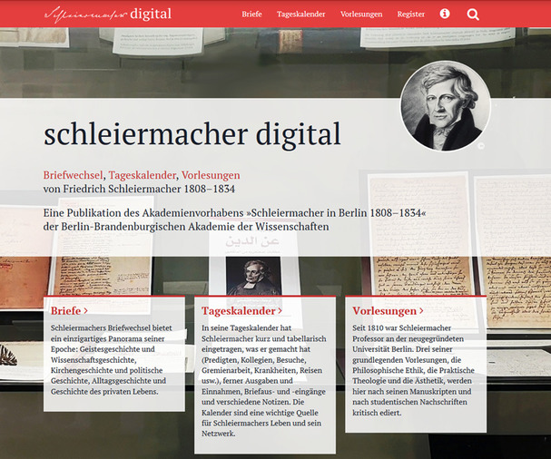 "Relaunch der digitalen Edition des Akademienvorhabens ""Schleiermacher in Berlin 1808–1834"""